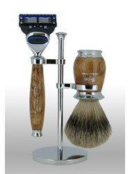 Taylor Of Old Bond Street Super Fusion Birch Wood Shaving Set Brown