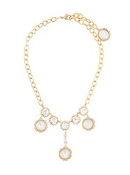 Dolce And Gabbana Clock Pendant Necklace Metallic