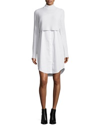 Elie Tahari Raleigh Ribbed Combo Sweater Dress