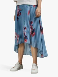 Ted Baker Harrpa Raspberry Ripple Pleated Midi Skirt Light Blue