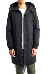 Men's Topman Longline Fishtail Parka