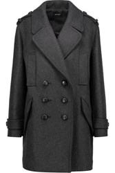 Isabel Marant Karly Oversized Double Breasted Wool Blend Coat Charcoal