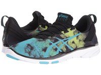 Asics Gel Fit Sana 2 Black Aquarium Neon Lime Women's Cross Training Shoes Multi