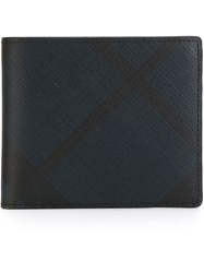 Burberry Checked Billfold Wallet Black