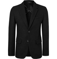 Rag And Bone Black Razor Slim Fit Wool Blazer