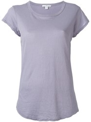 James Perse Loose Fit T Shirt Pink Purple
