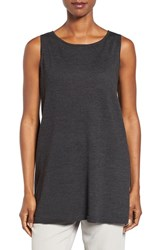 Eileen Fisher Women's Merino Jersey Ballet Neck Shell Charcoal