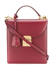 Mark Cross Uptown Tote Red