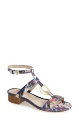 Women's Blondo 'Pearl' Ankle Strap Sandal Navy Floral Print