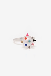 Nektar De Stagni Color Spiked Pearl Ring Multi