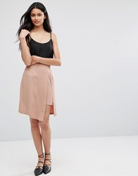 Lavand Pink Skirt With Layered Split Pk Pink