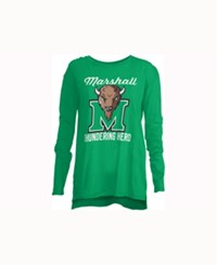 Royce Apparel Inc Women's Marshall Thundering Herd Noelle Long Sleeve T Shirt Green