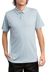 Rvca Sure Thing Ii Polo Dusty Blue