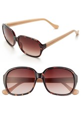 Women's Ivanka Trump 60Mm Sunglasses Dark Tortoise