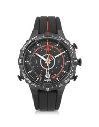 Timex Tide Temp Compass Black Stainless Steel Case And Silicone Strap Men's Watch