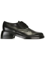 Ann Demeulemeester Chunky Heel Lace Up Shoes Black