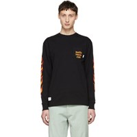Vans Black And Red Wtaps Edition Flame Long Sleeve T Shirt