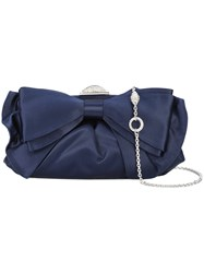 Judith Leiber Couture Madison Bag Crystal Satin Blue