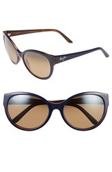 Women's Maui Jim 'Venus Pools' 58Mm Polarized Sunglasses Blue With Rootbeer Bronze