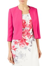 Jacques Vert Styled Crepe Edge To Edge Jacket Bright Pink