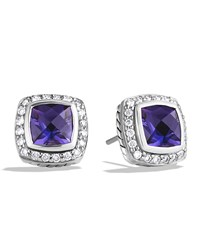 Petite Albion Earrings With Amethyst And Diamonds David Yurman Purple