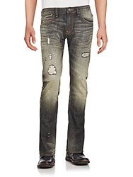 Cult Of Individuality Whiskered And Distressed Jeans Black
