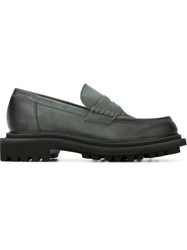 Pollini Chunky Penny Loafers Grey