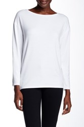 Alice Olivia Boatneck Long Sleeve Tee White