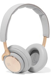 B And O Play H6 Leather Gold Tone Headphones Gray