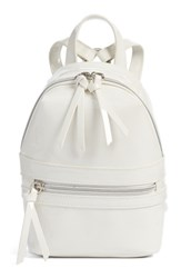 Bp. Faux Patent Leather Mini Backpack White