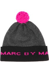 Marc By Marc Jacobs Pompom Merino Wool Beanie Anthracite