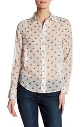 Marc By Marc Jacobs Printed Long Sleeve Shirt White