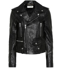 Saint Laurent Leather Jacket Black
