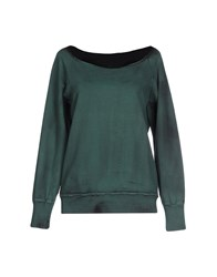 Met Topwear Sweatshirts Women Green