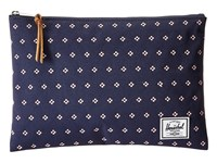 Herschel Network Large Peacoat Apricot Blush Dots Wallet Navy