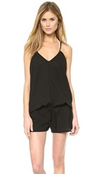 9Seed Corsica Cover Up Romper Black
