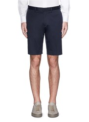 Theory 'Lenix' Cotton Twill Slim Fit Shorts Blue