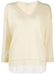 Peserico Layered Brass Embellished Pullover 60