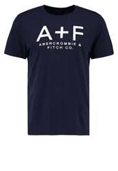 Abercrombie And Fitch Print Tshirt Blue White Light Blue