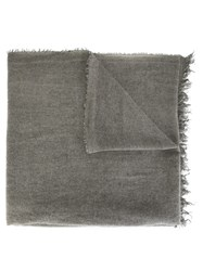 Eleventy Frayed Edge Scarf Grey