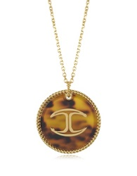 Just Cavalli Nature Gold Tone Large Medallion Women's Necklace
