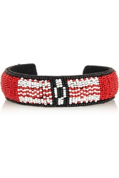 Isabel Marant Suede Beaded Cuff Red