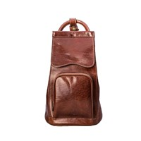 Maxwell Scott Bags Luxury Italian Leather Women's Backpack Handbag Carli Chestnut Tan Brown