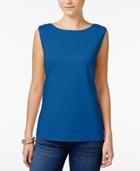 Karen Scott Boat Neck Tank Top Only At Macy's Deep Pacific