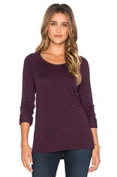 Sundry Light Terry Long Sleeve Raglan Tee Purple