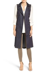 Chelsea 28 Women's Chelsea28 Sleeveless Denim Trench Coat
