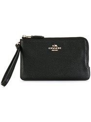 Coach Zip Around Wallet Black