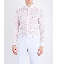 Richard James Contemporary Fit Floral Print Cotton Shirt Pink