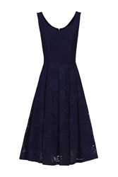 Jolie Moi Sweetheart Neck Lace Dress Navy