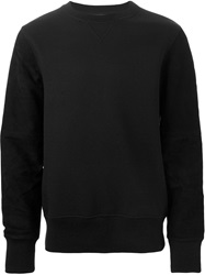 Laneus Suede Panel Sweatshirt Black